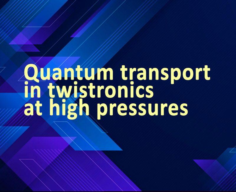 Quantum transport in twistronics at high pressures