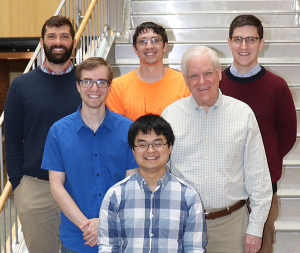 Fienup Research Group - February 2019 Left-to-right, Front-to-back: Joseph Tang, Matt Banet, Jim Fienup, Aaron Michalko, Scott Paine, Scott Will, (missing: Wes Farriss)