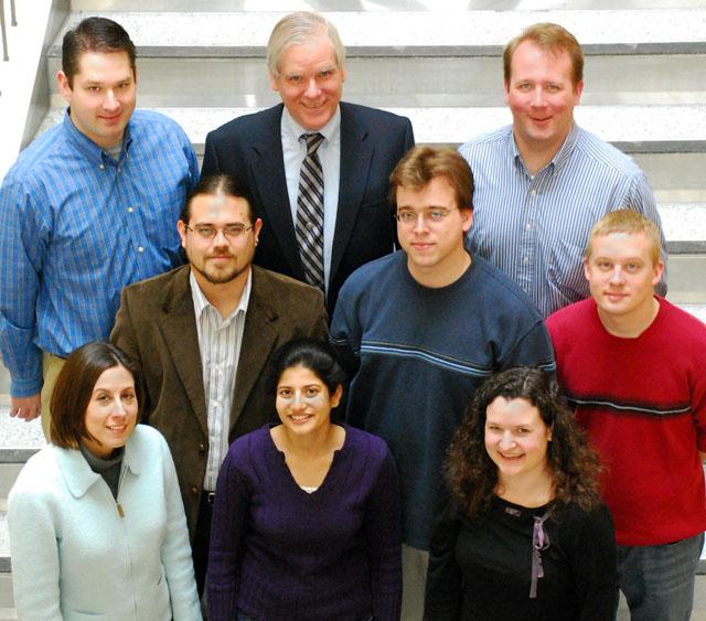 Fienup Research Group - Spring 2008 Left to right; top to Bottom: Greg Brady, Jim Fienup, Sam Thurman; Manuel Guizar-Sicairos, Tom Zielinski, Matt Bolcar; Dianne Lancia, Sapna Shroff, Abbie Tippie (not shown: Nathan Clark)