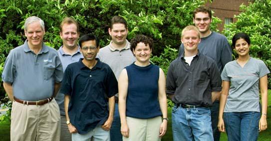 Fienup Research Group - Summer 2004 Left to Right: Jim Fienup, Sam Thurman, Brijesh Prithviraj, Greg Brady, Abbie Tippie (undergrad at Colorado State U.), Matt Bolcar, Nathan Clark, Sapna Shroff (not shown: Seung-Whan Bahk, Tom Zielinski)