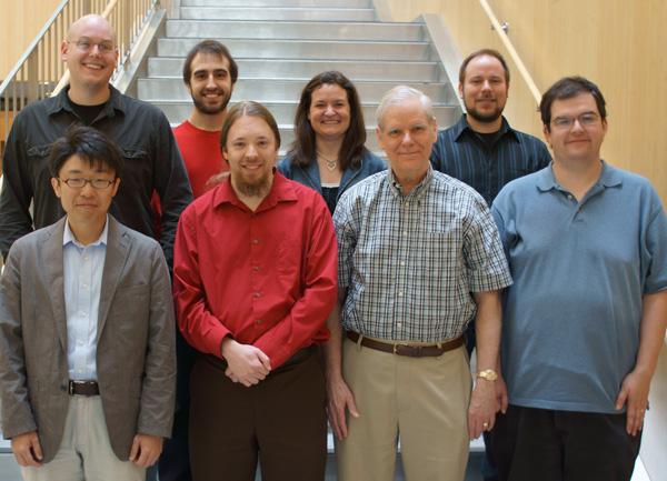Fienup Research Group - May 2012Left to right; top to bottom: Zack DeSantis, Alex Iacchetta, Abbie Tippie, Matt Bergkoetter; Prof. Hidekazu Mimura (Visiting Scientist, U. Tokyo), Alden Jurling, Jim Fienup, Dustin Moore